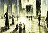 London dark ashes marker drawing by Dan DANK Kitchener