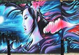 Moon Geisha streetart by Dan DANK Kitchener
