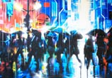 Neon city streetart by Dan DANK Kitchener