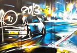Road closed acsess only streetart by Dan DANK Kitchener