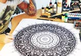 At Works to mandala drawing by Dino Tomic