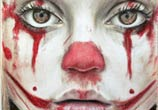 Clown face drawing by Dino Tomic
