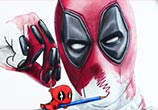 Deadpool color drawing by Dino Tomic