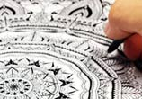 Mandala In progress pen drawing by Dino Tomic