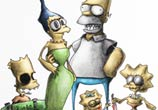 Simpsons Creepy color drawing by Dino Tomic