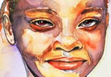 Nigerian girl watercolor painting by Eneida Rosa