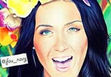 Katy Perry color drawing by Fau Navy