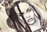 Rihanna Dollar pencil drawing by Fau Navy