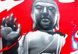 Budha in Tattoo studio streetart by Fhero Art