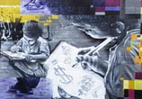 Education graffiti by Fhero Art