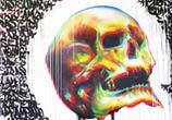 Graffiti with skull graffiti by Fhero Art