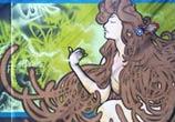 Hard collors hair streetart by Fhero Art