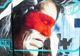 Indian portrait streetart by Fhero Art