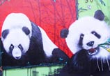 Two Pandas streetart by Fhero Art