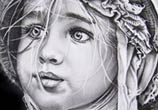 Little girl 1 drawing by Garvel Art