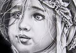 Little girl 1 drawing by Garvel Art