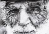 Old man drawing by Garvel Art