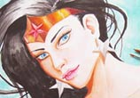 Wonder Woman watercolor painting by Garvel Art