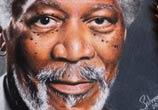 Morgan Freeman portrait drawing by Guilherme Silveira