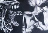 Alien vs. Predator drawing by Guilherme Silveira