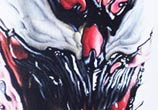 Venom from Spiderman color drawing by Guilherme Silveira