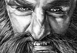 Dwalin fromHobbit drawing by Helene Kupp