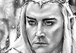Elvenking drawing by Helene Kupp