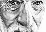 Gandalf drawing by Helene Kupp