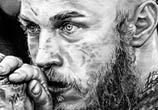 Ragnar Lothbrok drawing by Helene Kupp
