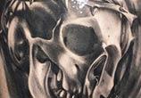 Skull tattoo tattoo by Ivan Trapiani