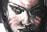 woman face 2 tattoo by Ivan Trapiani