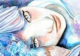 Violet watercolor painting by Jane Beata Lepejova