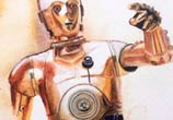 C-3P0 from Star Wars painting by Jonathan Knight Art