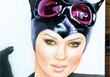 Catwoman pencil color drawing by Jonathan Knight Art