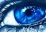 Dark blue Eye drawing by Jonathan Knight Art