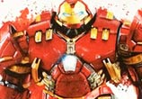 HulkBuster Iron Man color drawing by Jonathan Knight Art