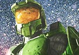 Master Chief color drawing by Jonathan Knight Art