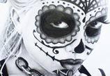 Muerte drawing by Jonathan Knight Art