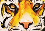Tiger watercolor painting by Jonathan Knight Art