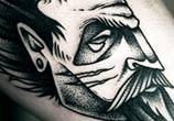 Devil dotwork tattoo by Kamil Czapiga