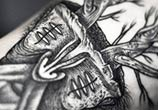 Tree face dotwork tattoo by Kamil Czapiga