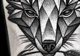 Fox dotwork tattoo by Kamil Czapiga