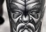 Dotwork portrait tattoo by Kamil Czapiga
