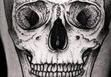 Skull dotwork tattoo by Kamil Czapiga