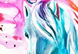 Color horse drawing by Katy Lipscomb Art
