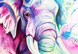 Elephant color drawing by Katy Lipscomb Art