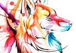 fox design marker drawing by Katy Lipscomb Art
