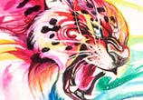 Jaguar color drawing by Katy Lipscomb Art