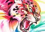 Jaguar color drawing by Katy Lipscomb Art