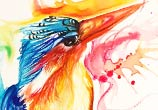 Kingfisher color drawing by Katy Lipscomb Art